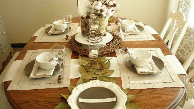 Bloombety Table Settings Ideas Wooden