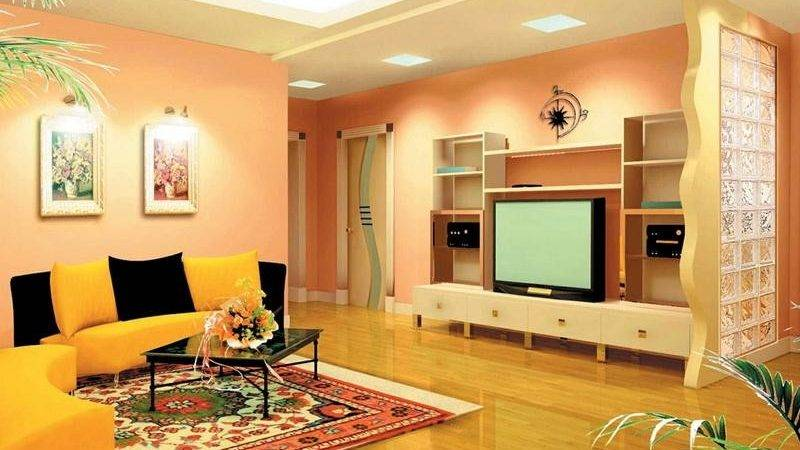 Bloombety Warm Living Room Design Ideas Contemporary
