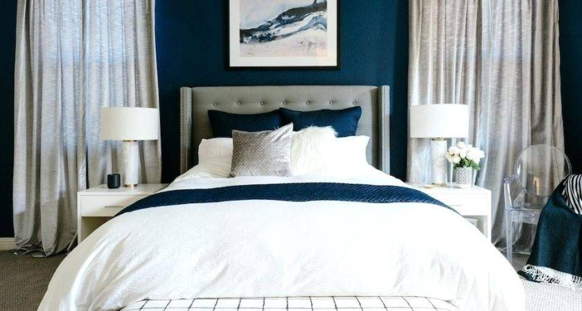 Blue Accent Bedroom Wall Navy