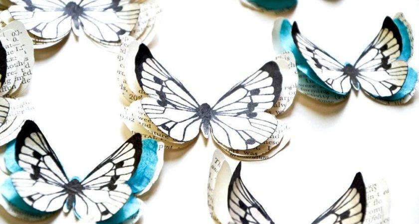 Blue Butterfly Wall Decor Country Party Decorations