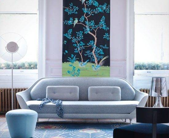 Blue Chinoiserie Living Room Decorating