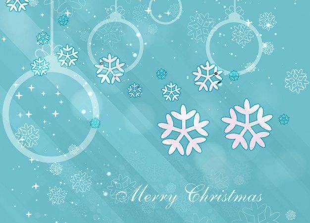 Blue Color Christmas Vector
