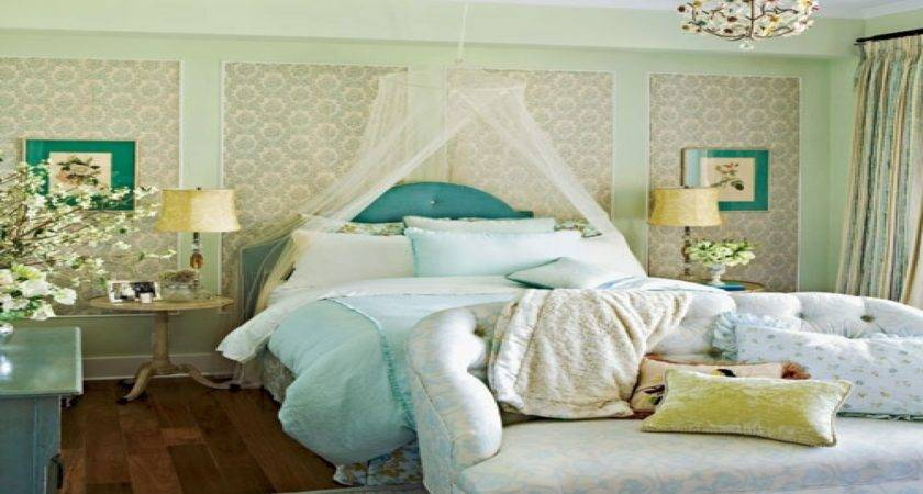 Blue Gold Bedroom Ideas Feminine Decorating