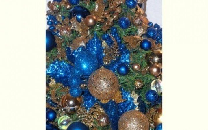 Blue Gold Christmas Tree Decorations Designcorner