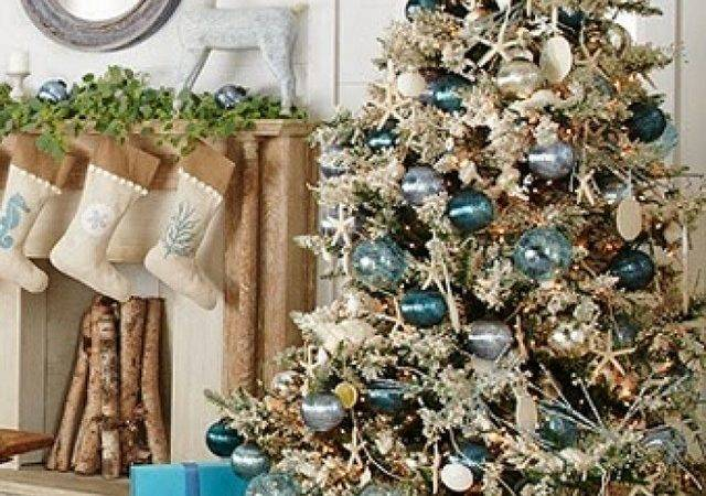 Blue Gold Christmas Tree Ideas
