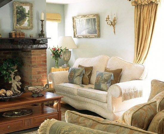 Blue Living Room Traditional Furniture Gold