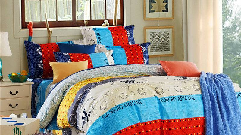 Blue Red Yellow Bright Colored Modern Pattern Comforters