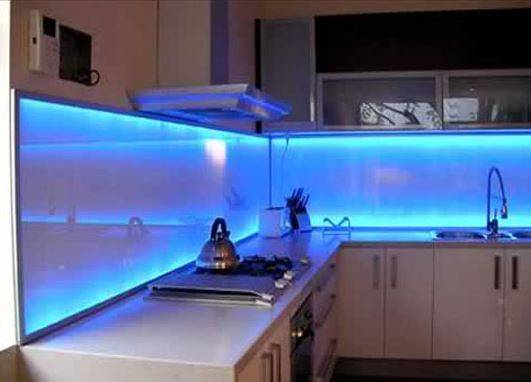 Blue Splashbacks Perth Kitchen