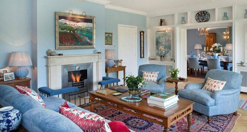 Blue Themed Living Room Ideas Doherty