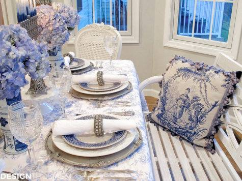Blue White Christmas Table Settings French