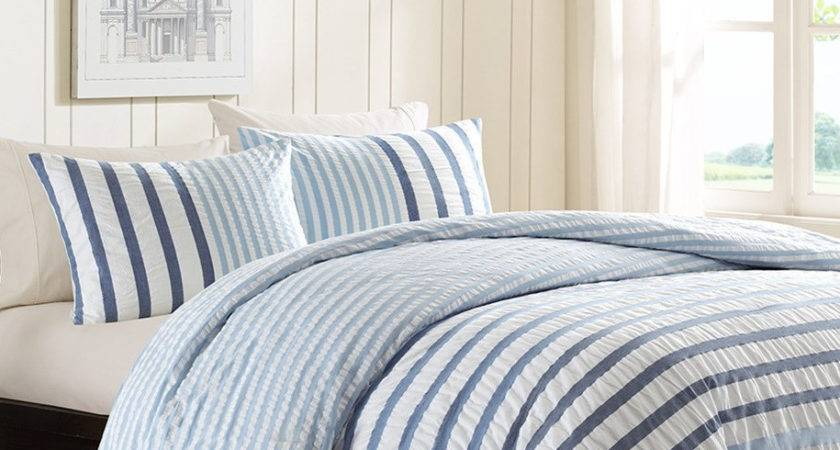 Blue White Striped Bedding Home Ideas