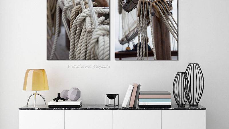 Boat Photography Bathroom Decor Canvas Art Nautical
