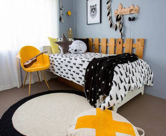 Bondville Black White Yellow Boy Bedroom Years