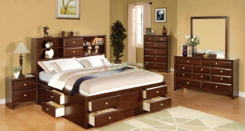 Bookcase Storage Bedroom Furniture Set Xiorex