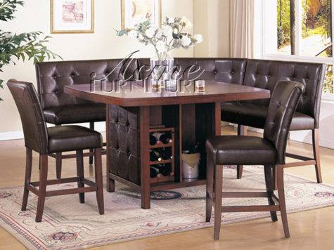 Bravo Piece Dining Set Counter Height Corner Seating