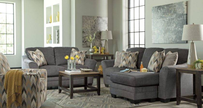 Braxlin Charcoal Living Room Set Ashley