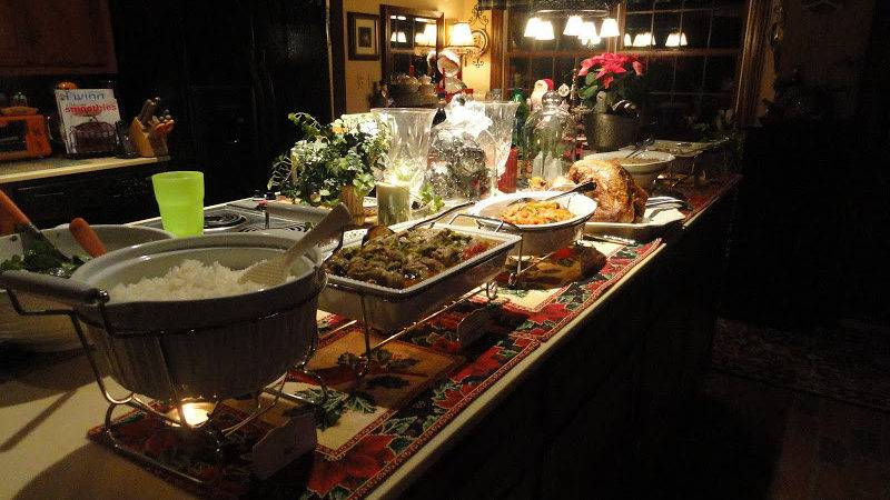 Breathtaking Dinner Party Buffet Table Complete