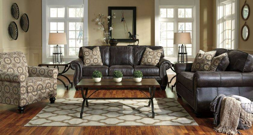 Breville Charcoal Living Room Set Ashley