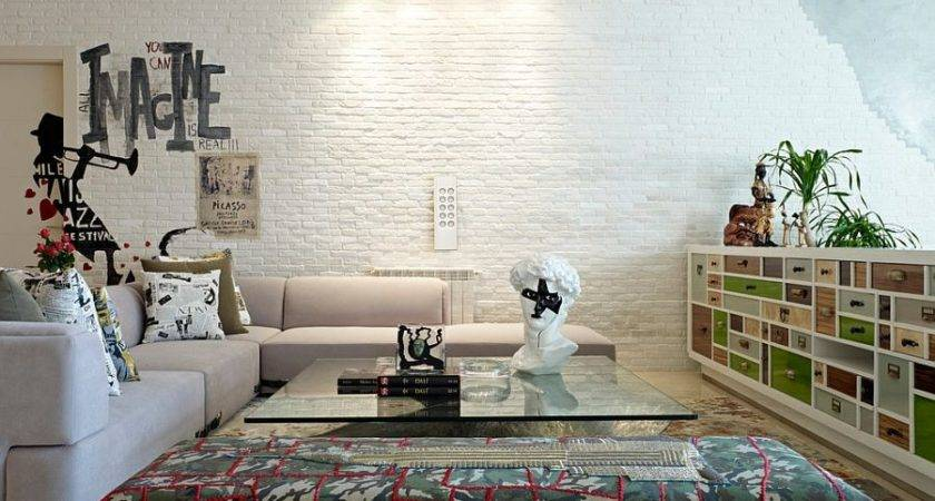 Brick Wall Living Rooms Inspire Your Design