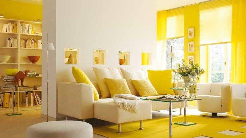 Bright Beautiful Living Rooms Yellow Accents