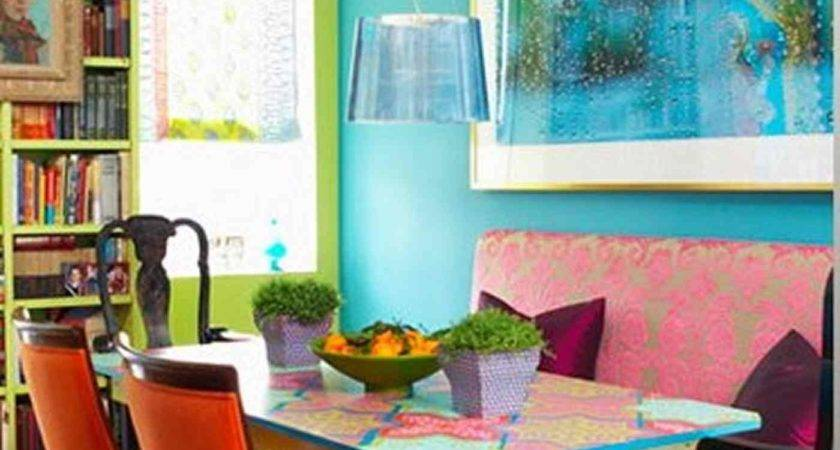 Bright Dining Room Orange Ack Chairs Colorful Tale