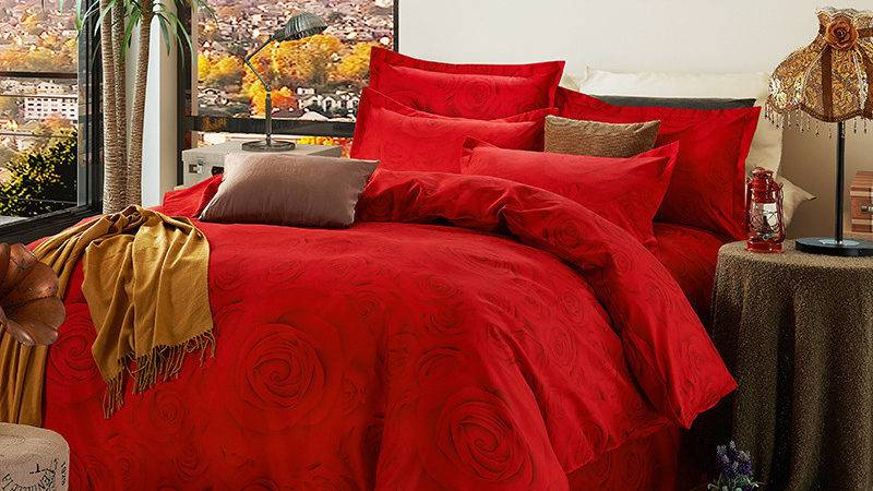 Bright Red Comforter Promotion Shop Promotional