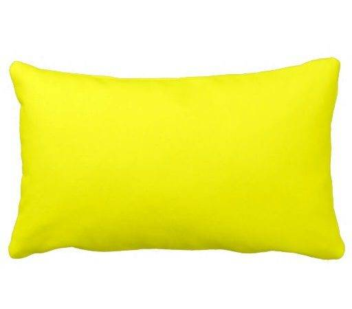 Bright Yellow Decorative Throw Pillows Couch Zazzle