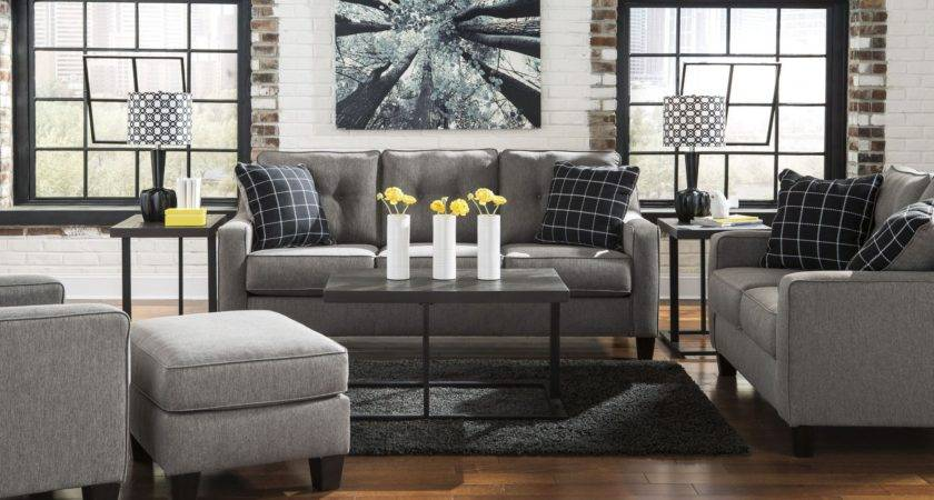 Brindon Charcoal Living Room Set Ashley