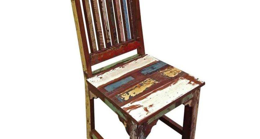 Brix Multicolored Distressed Dining Chair Malibu Mart