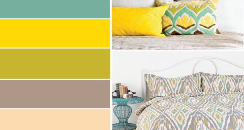 Brown Blue Bedroom Yellow Gray Teal Color