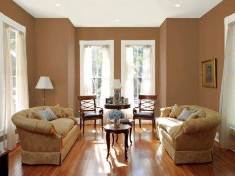 Brown Living Room Paint Home Decor