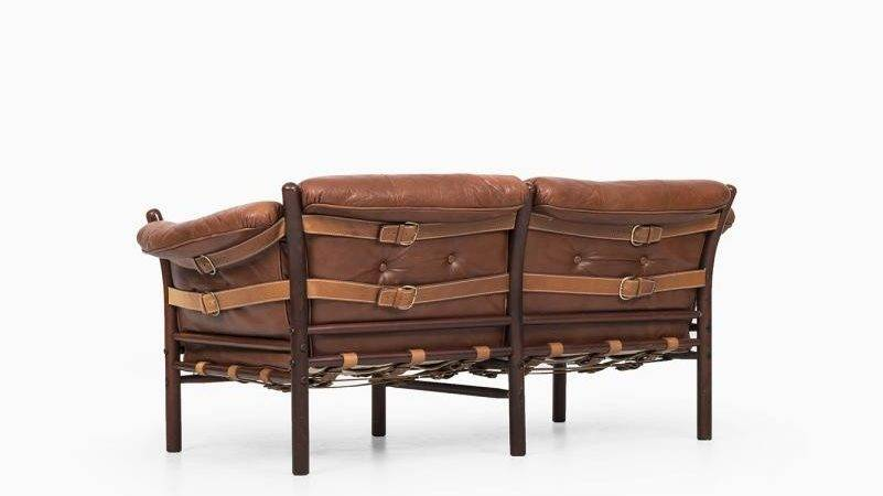 Brown Red Ilona Sofa Arne Norell