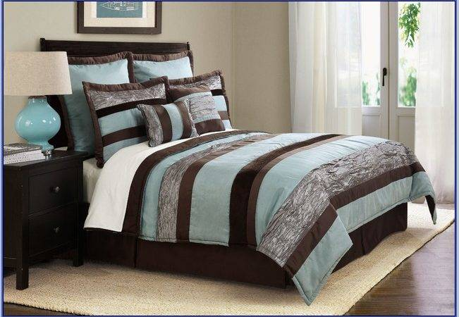 Brown Teal Bedding Sets
