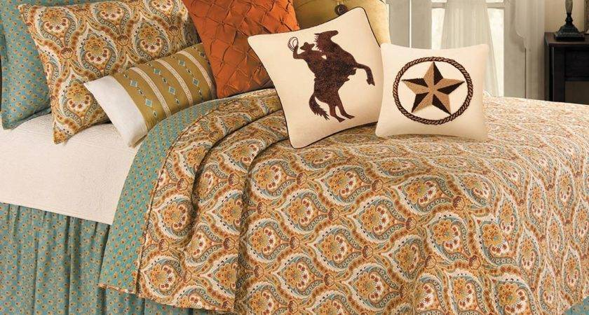 Brown Teal Bedding