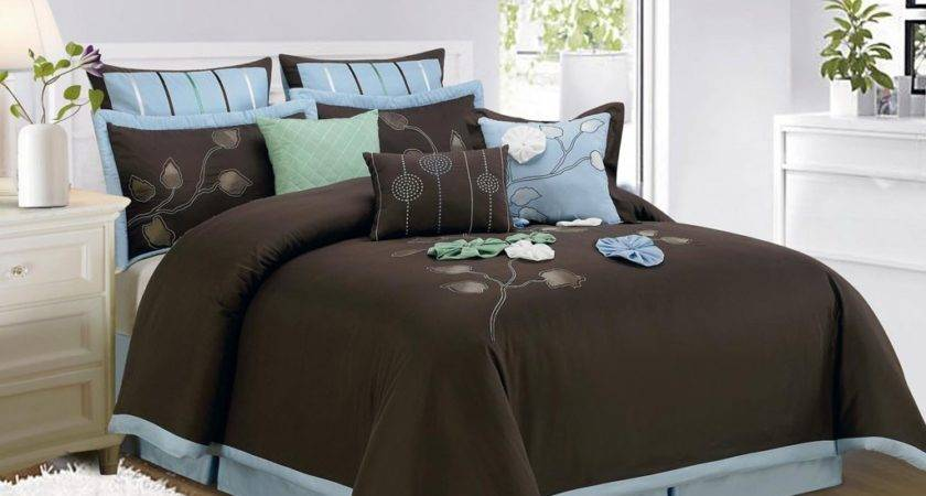 Brown Teal Comforter Sets Amazing Elegant