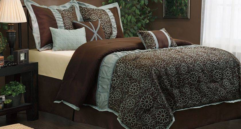 Brown Teal Comforter Sets Trendy Truly Soft