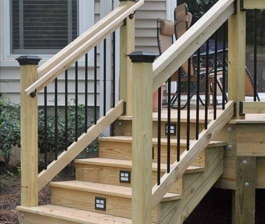 Build Handrails Stairs Modern Style Home