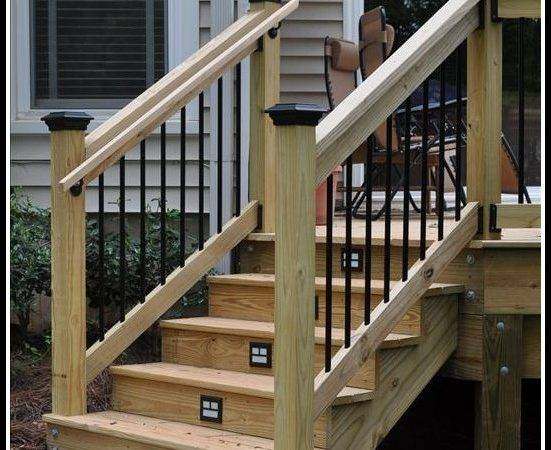 Building Deck Stairs Railing Decks Home Decorating