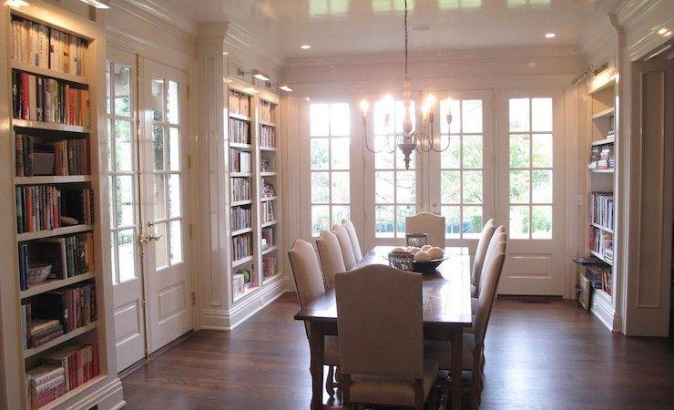 Built Bookcases Transitional Den Library Office
