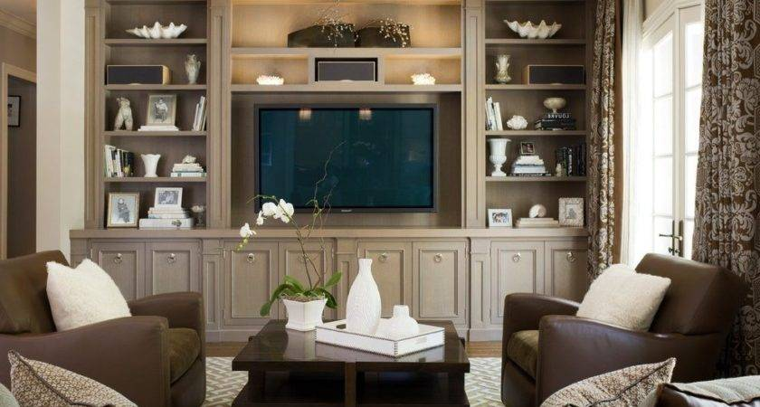 Built Cabinet Ideas Room Traditional