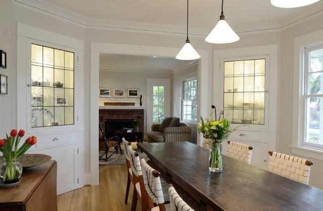 Built Ins Traditional Dining Room Portland