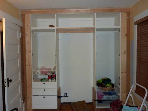 Built Wardrobe Closet Ikea Hackers