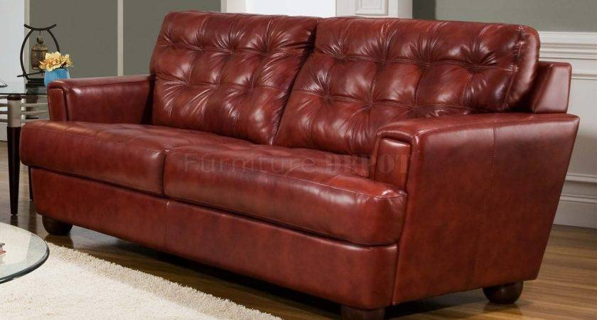 Burgundy Leather Couch Decorating Ideas
