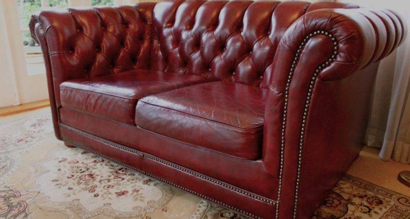 Burgundy Leather Sofa Styles Loccie Better Homes Gardens