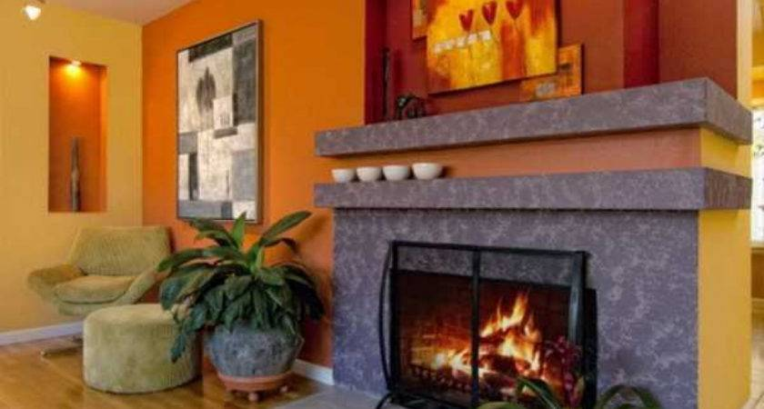 Burnt Orange Dining Room Terracotta Walls Living