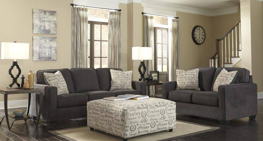 Buy Alenya Charcoal Living Room Set Signature Design