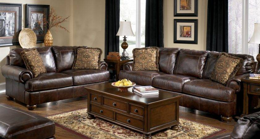 Buy Axiom Walnut Living Room Set Signature Design