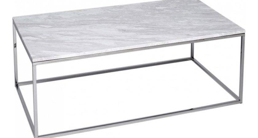 Buy Marble Silver Rectangular Coffee Table Fusion