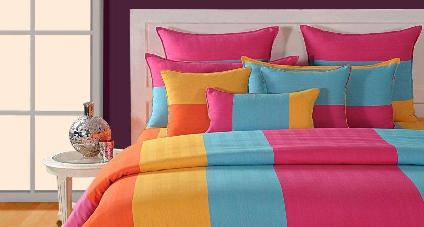 Buy Multi Colored Bed Sheet Canopus Flickdeal