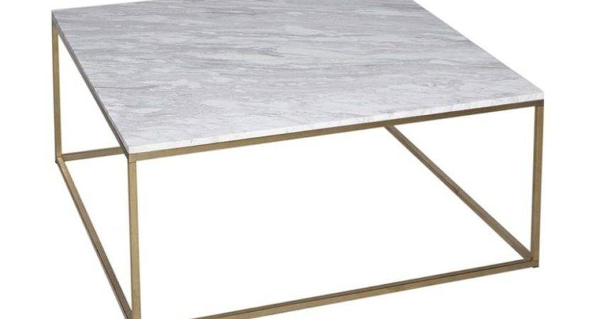 Buy White Marble Silver Metal Coffee Table Fusion